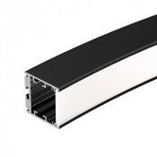Профиль SL-ARC-3535-D1500-N90 BLACK (1180мм, дуга 1 из 4)