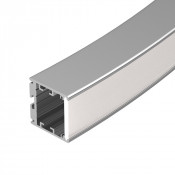 Профиль SL-ARC-3535-D1500-W90 SILVER (1180мм, дуга 1 из 4)
