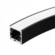 Профиль SL-ARC-3535-D800-A90 BLACK (630мм, дуга 1 из 4)