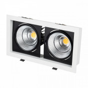 Светильник CL-KARDAN-S283x152-2x25W White6000 (WH-BK, 30 deg)