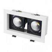 Светильник CL-KARDAN-S180x102-2x9W White (WH-BK, 38 deg)