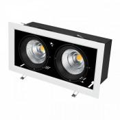 Светильник CL-KARDAN-S375x190-2x25W Warm3000 (WH-BK, 30 deg)