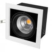 Светильник CL-KARDAN-S190x190-25W Warm3000 (WH-BK, 30 deg)