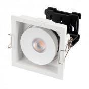 Светильник CL-SIMPLE-S80x80-9W Warm3000 (WH, 45 deg)