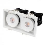 Светильник CL-SIMPLE-S148x80-2x9W Warm3000 (WH, 45 deg)