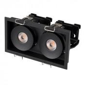 Светильник CL-SIMPLE-S148x80-2x9W Day4000 (BK, 45 deg)