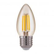 Лампа светодиодная филаментная Elektrostandard E27 7W 3300K прозрачная 4690389041495