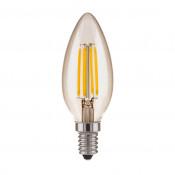 Лампа светодиодная филаментная Elektrostandard E14 7W 3300K прозрачная 4690389062889