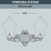 Консоль для паркового фонаря Fumagalli Porpora Sys 000.141.000.A0