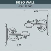 Консоль для паркового фонаря Fumagalli Bisso Wall 000.131.000.B0