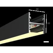 Линейный светильник HOKASU S50 U&D (RAL9005/500mm/LT70 - 3K/13W)